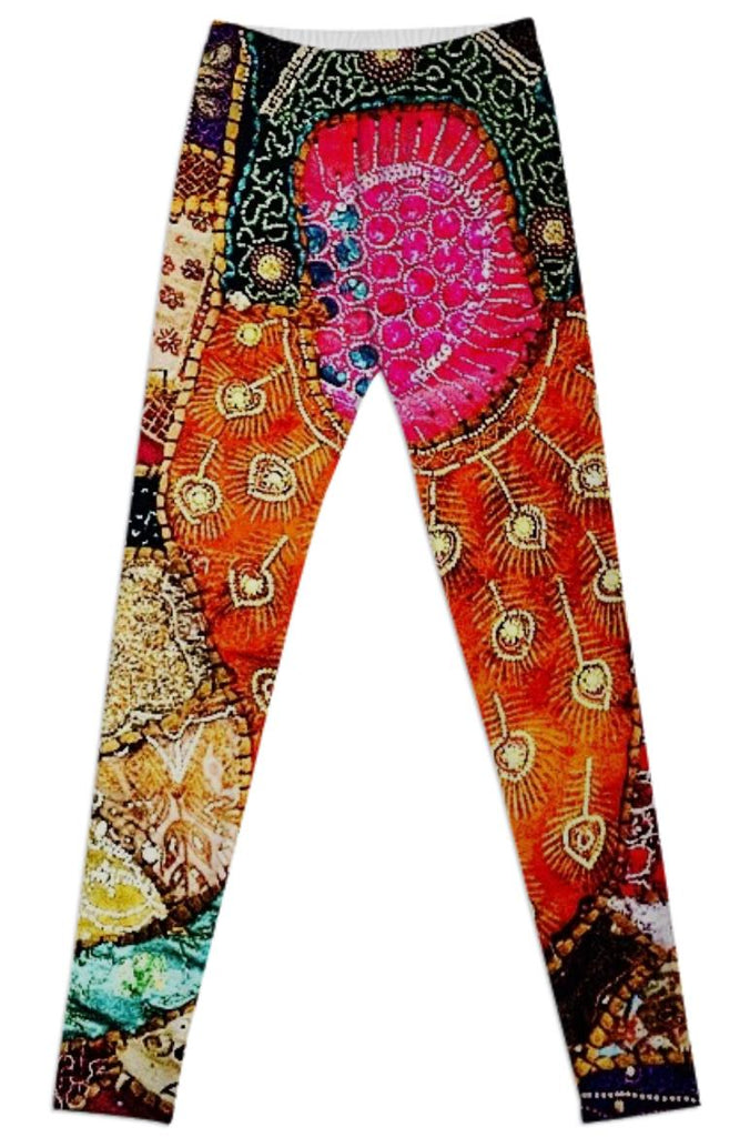 thai tapestry leggings