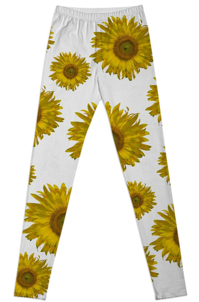 Yellow Scattered Sunflowers Leggings