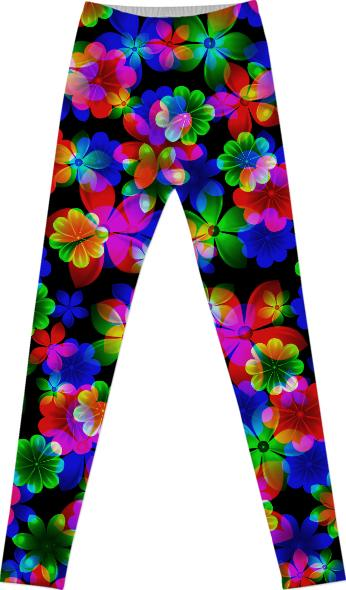 3D Bouquet of Flowers leggings