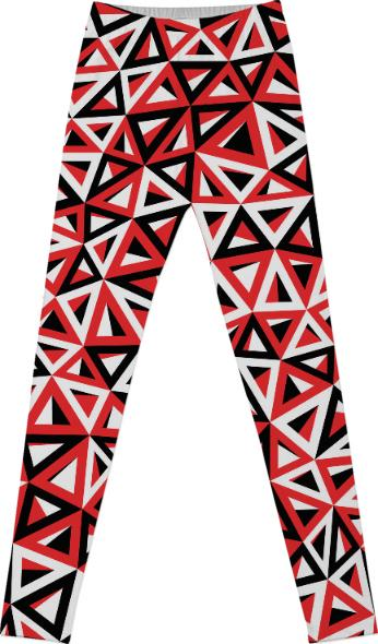 Bermuda Triangles Red Black White