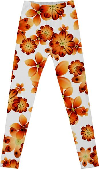 Burnt Flowers Leggings by Valxart