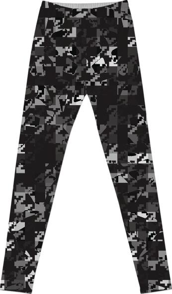 HOUNDSTOOTH CAMOUFLAGE LEGGINGS