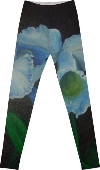 LEGGINGS Blue Orchids