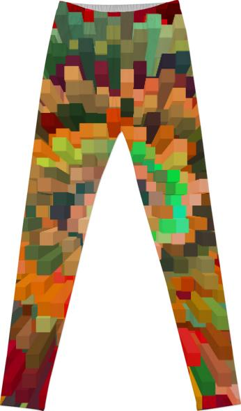 Leggins spiral color bar