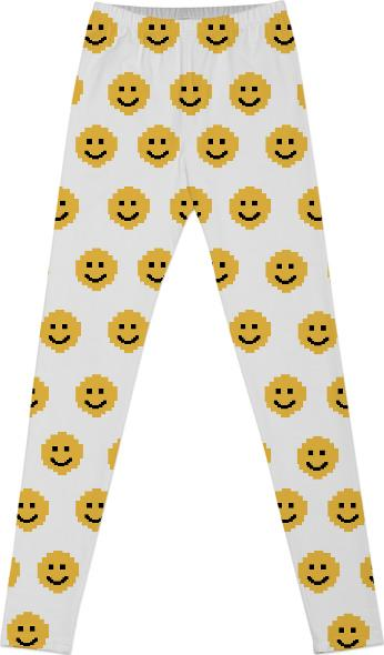 Put on a Happy Face Print Leggings