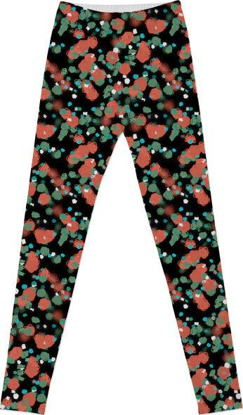 Sprouted Spirals Orange and Green Leggings