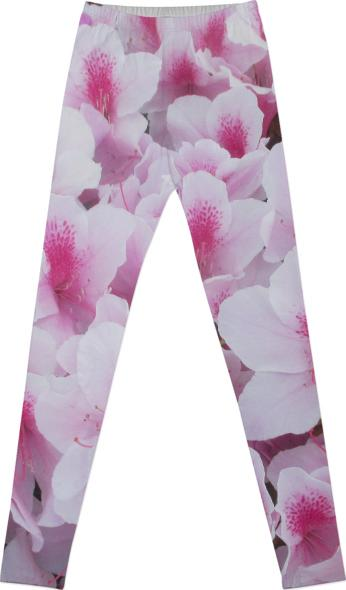Think Pink Floral Leggings