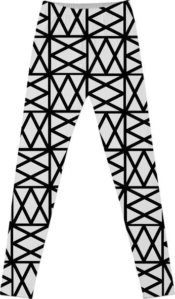 White on black geometric criss cross