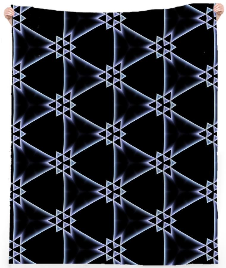 A Triangular Pattern on a Black Background