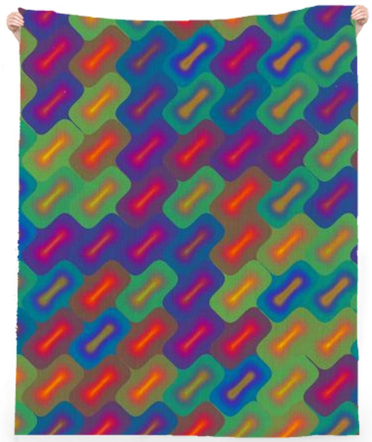 Bright Rectangles Beach Towel