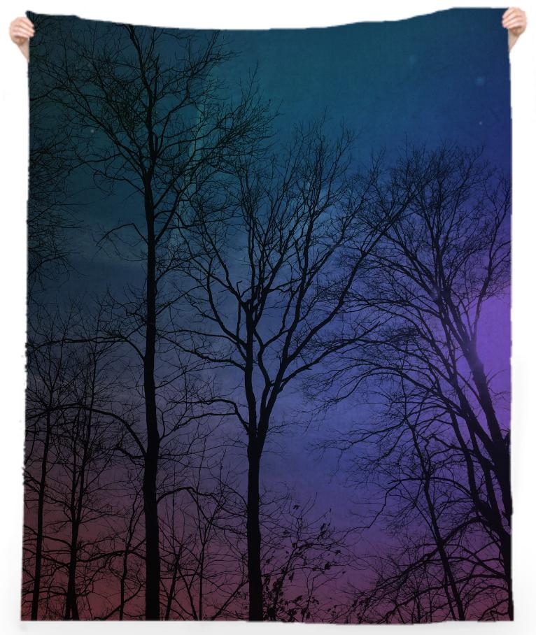 Galaxy In The Woods Beach Towel