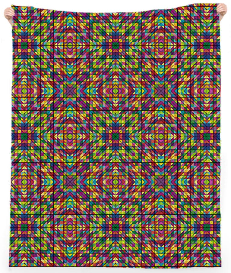 Multicolor mosaic pattern