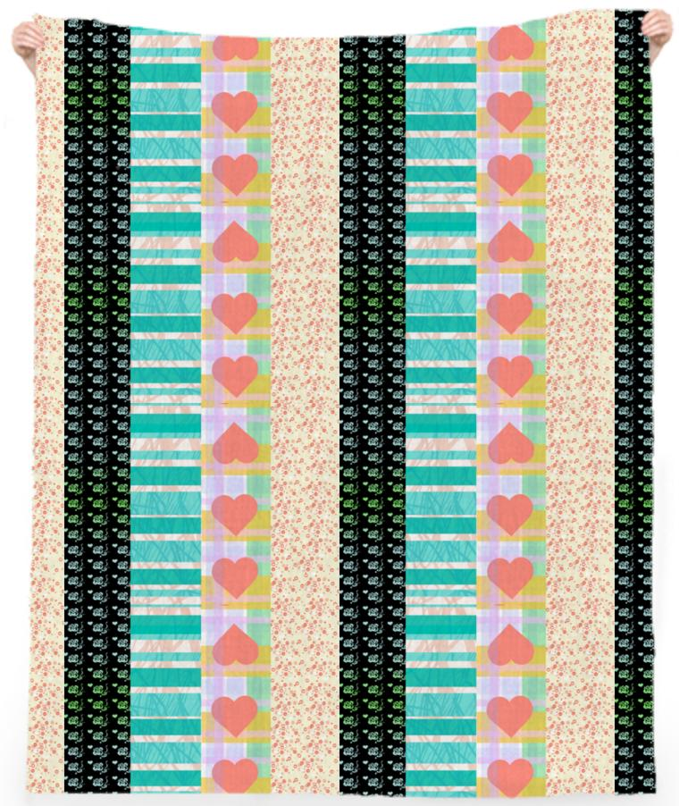 Patchwork Romance Beach Towel