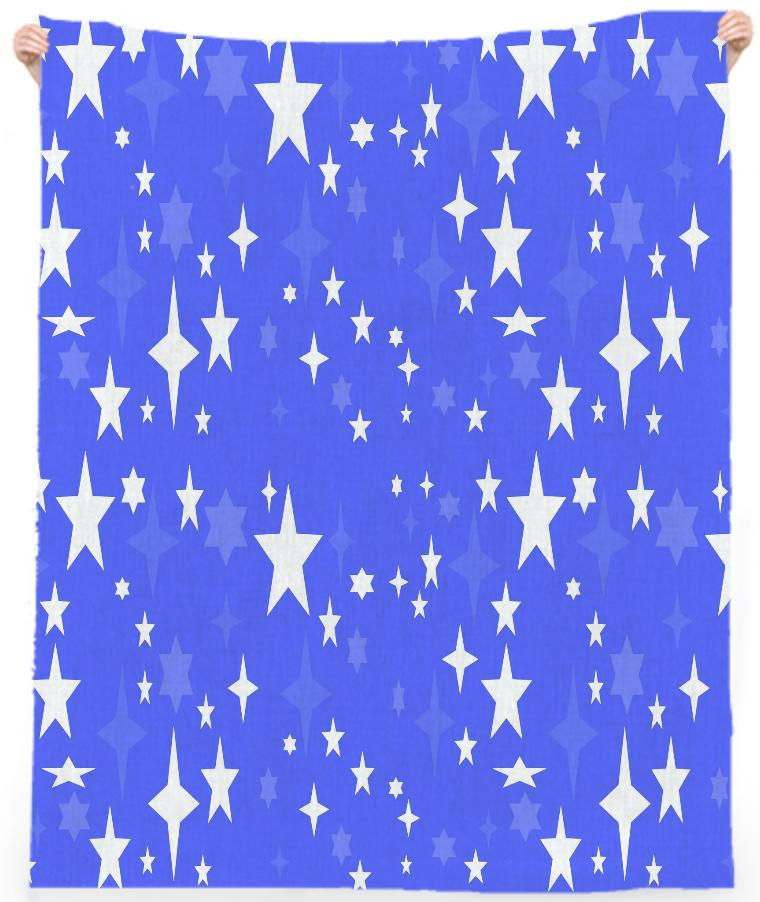 Periwinkle Atomic Star Beach Towel