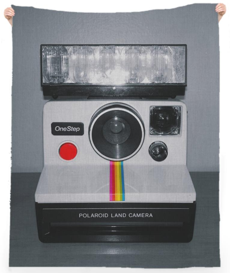Polaroid Beach Towel