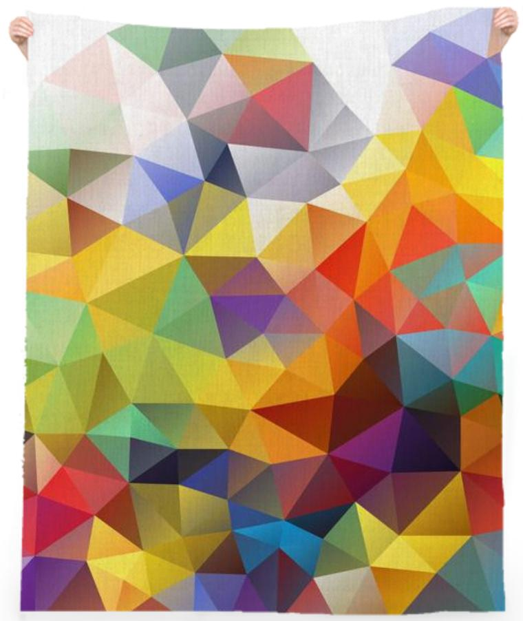 POLYGON TRIANGLES PATTERN YELLOW RED ORANGE VIOLET ABSTRACT POLYART  GEOMETRIC CANDY COLORS COLORFUL RAINBOW - PAOM