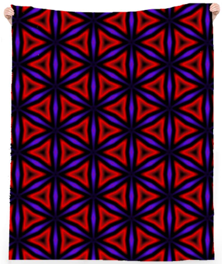 Red and Purple Triangles Beach Towel