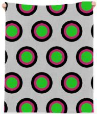 Tricolor Polka Dot Beach Towel