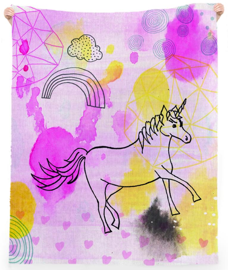 Unicorn Sprinkles Beach Towel