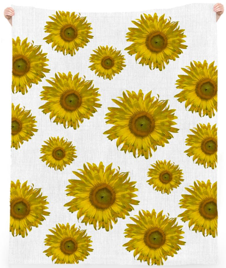 Yellow Scattered Sunflowers