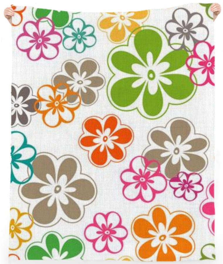 Cute funky flowers digital pattern