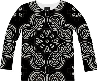 Black and White Pattern Shirt