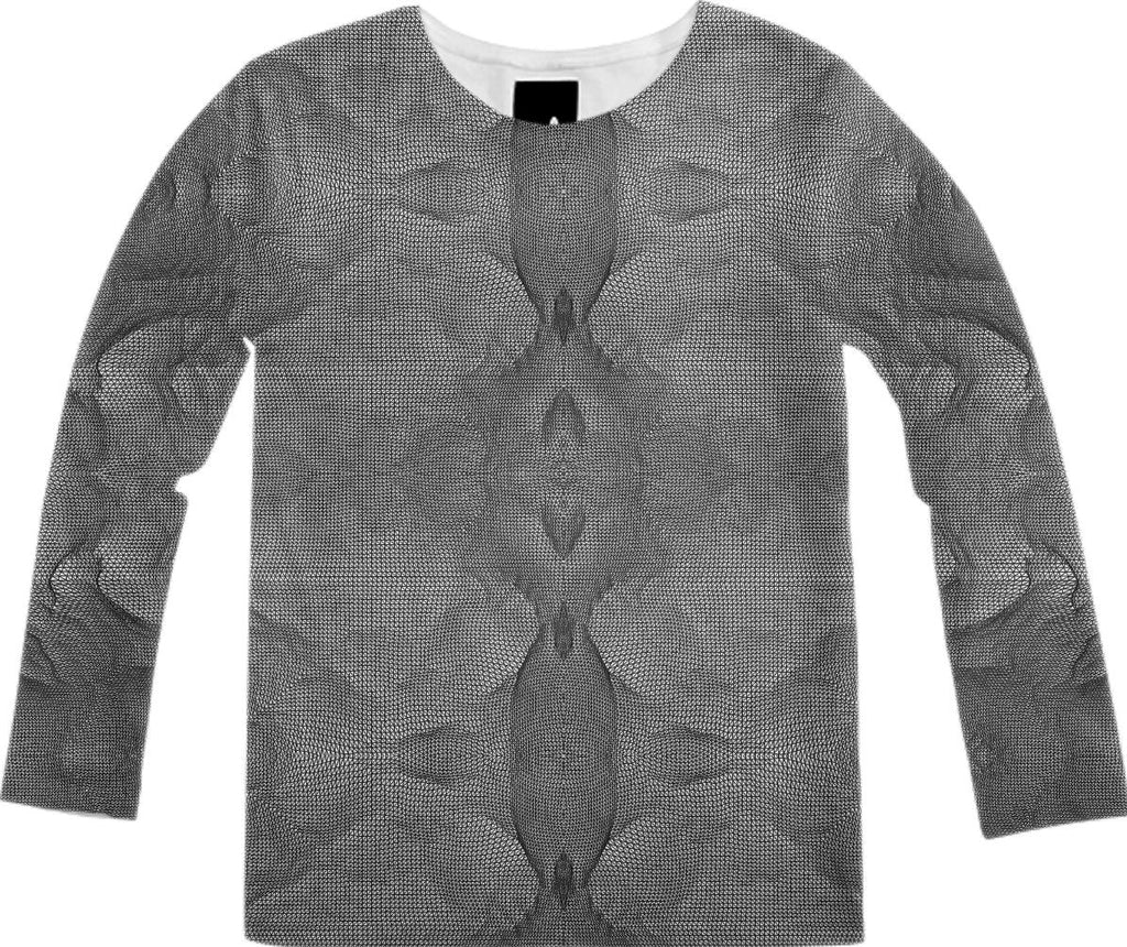 Fractal Terrain Wireframe Long Sleeve Shirt