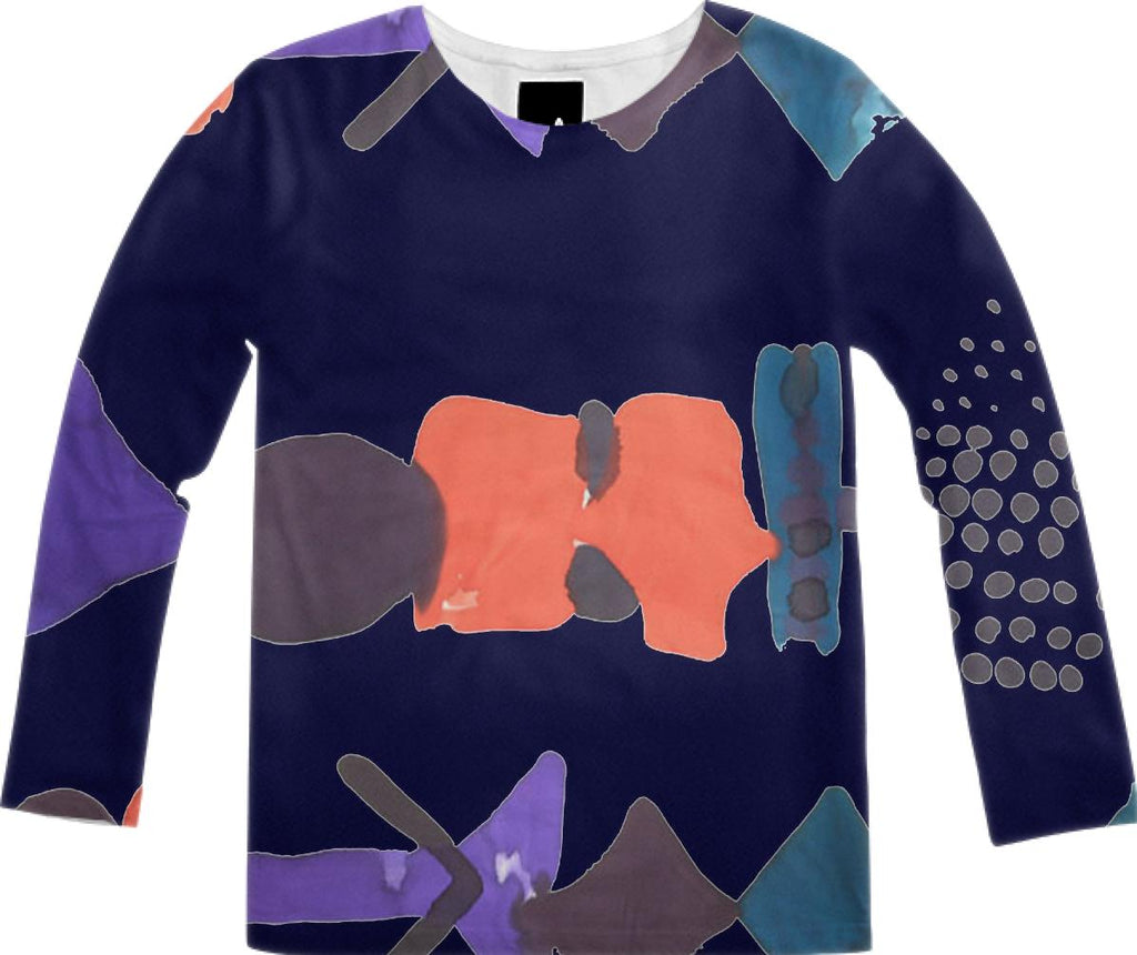 PAOM, Print All Over Me, digital print, design, fashion, style, collaboration, fort-makers, fort makers, Long Sleeve Shirt, Long-Sleeve-Shirt, LongSleeveShirt, Navy, Float, Tee, autumn winter, unisex, Poly, Tops