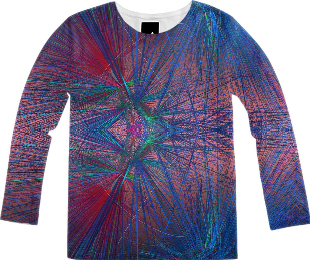 Peacock Wireframe Long Sleeve Shirt