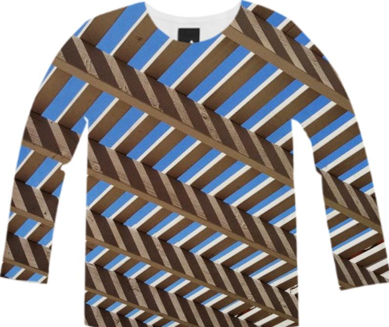 Pergola Pattern Long Sleeve Tee