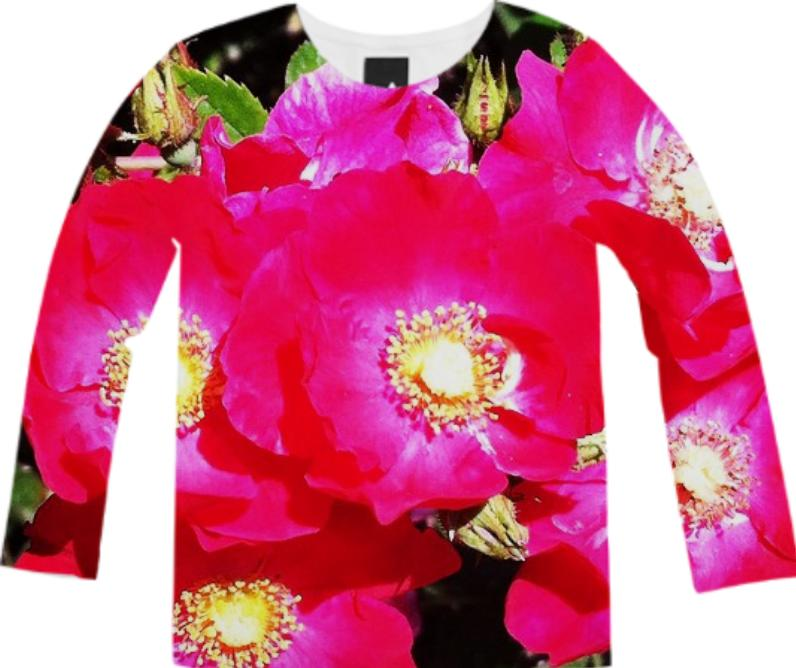 Pink Floral Long Sleeve Tee