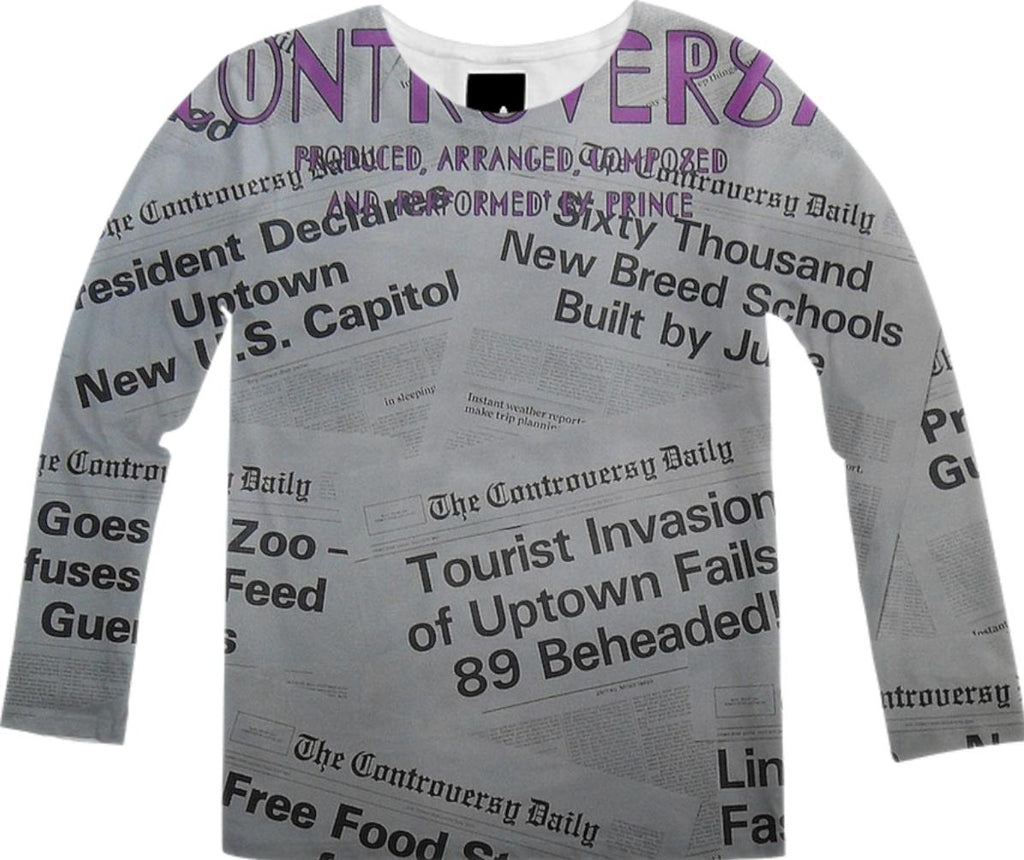 Prince Controversy Back Cover Long Sleeve Shirt