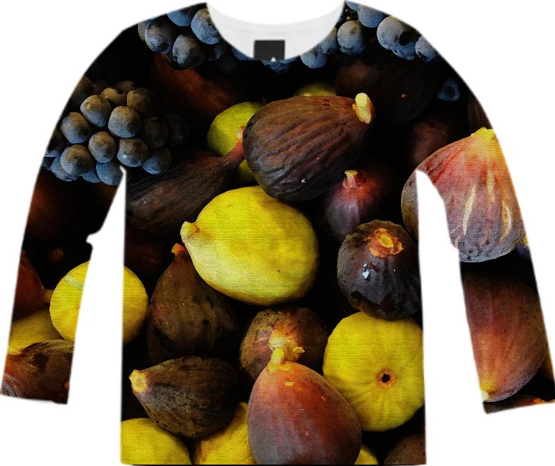 purple and green figs long sleeve shirt
