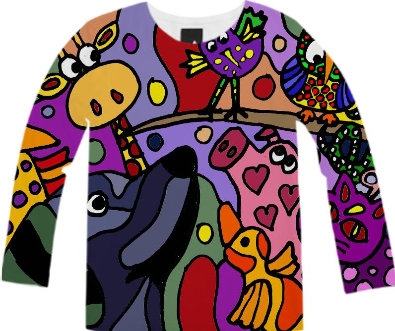 Wacky Animals Abstract Shirt