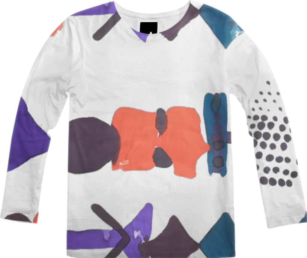 PAOM, Print All Over Me, digital print, design, fashion, style, collaboration, fort-makers, fort makers, Long Sleeve Shirt, Long-Sleeve-Shirt, LongSleeveShirt, White, Float, Tee, autumn winter, unisex, Poly, Tops