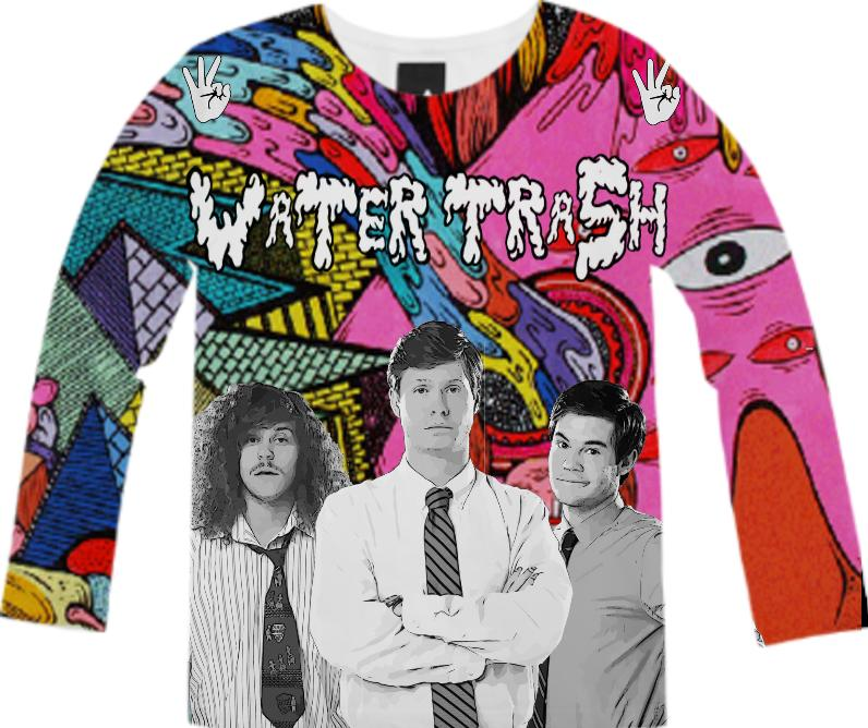 workaholics black and white water trash