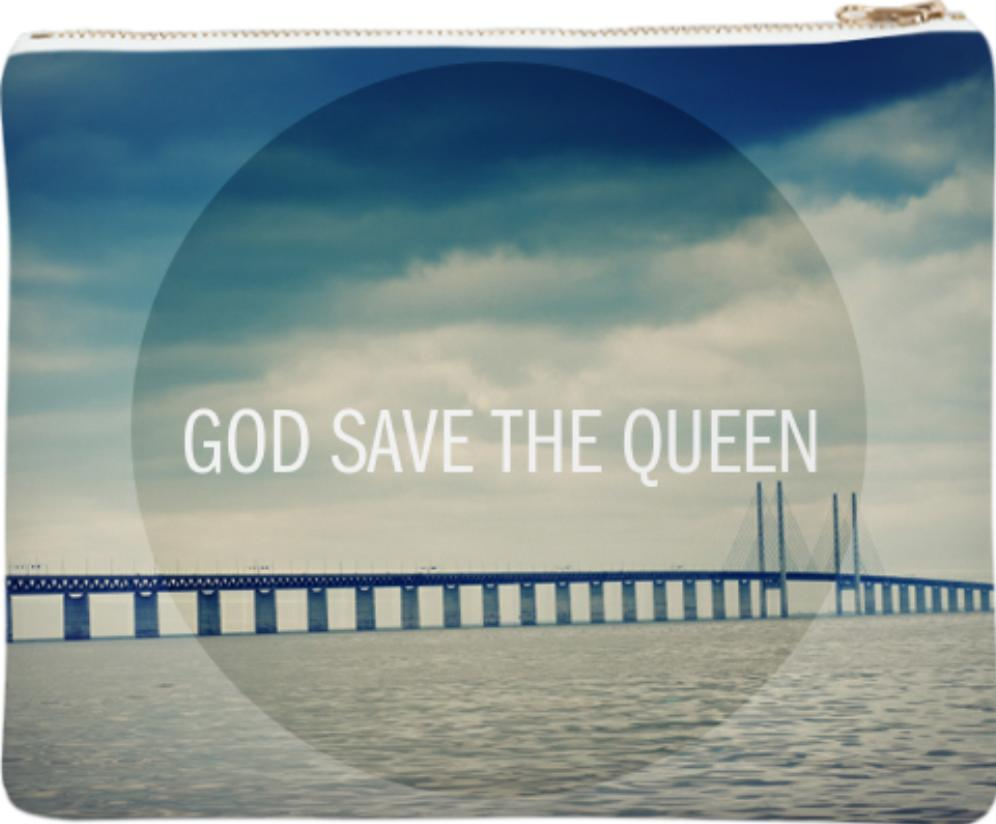 God Save the Queen Neoprene Clutch