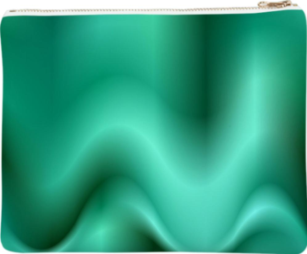 Turquoise abstract waves