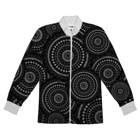 Black and White Mandala Pattern Tracksuit Jacket