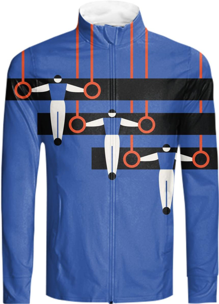 gymnast rings stripe tracksuit jacket