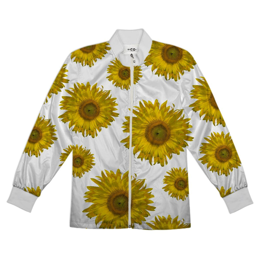 Yellow Scattered Sunflowers Tracksuit Jacket