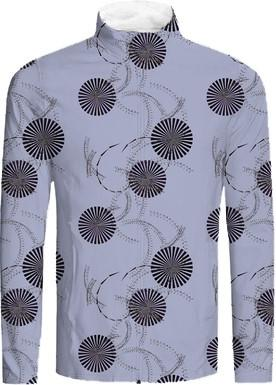 Abstract Sunburst Circles on Gray
