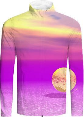 Adrift Abstract Gold Violet Ocean Paradise