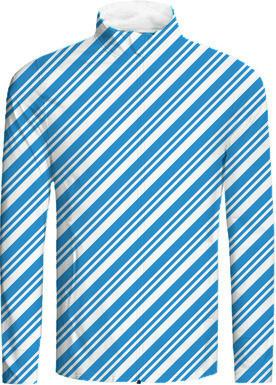 Aqua Blue Diagonal Stripes