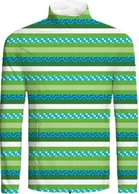 Blue and Green Abstract Stripes