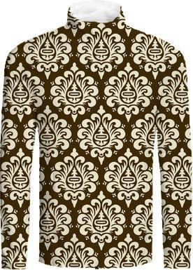 Brown and Cream Damask