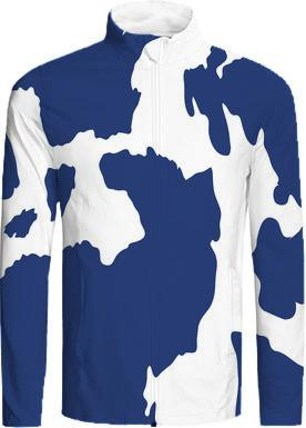 Cow Print Dark Blue