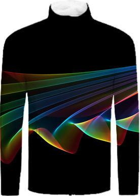 Flowing Fabric of Rainbow Light Abstract Fractal