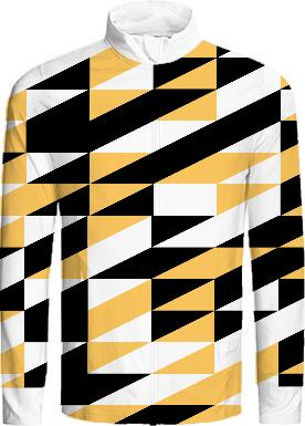 Mustard and black retro geometric