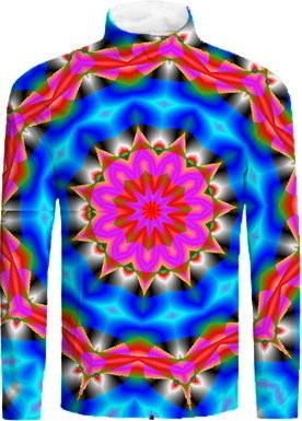 Neon Kaleidoscope Abstract